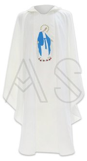 """Marian Chasuble """"Our Lady of Grace""""- in stock, shipping in 24h"""