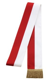 Sash white-red SZA-BC-G