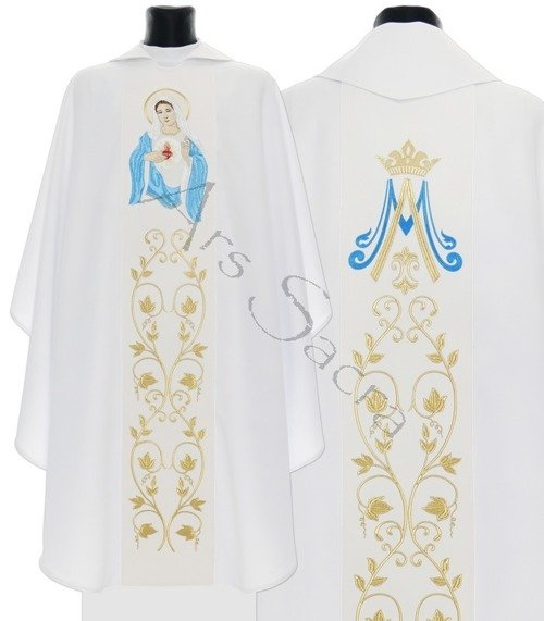 """Gothic Chasuble """"Heart of Mary"""" 733-B"""