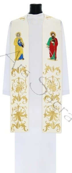 """Gothic stole """"The Apostles Peter and Paul"""" SH37-B"""