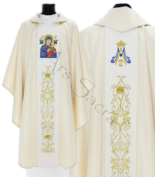 """Marian Chasuble """"Our Lady of Perpetual Help"""" 408-GK54"""