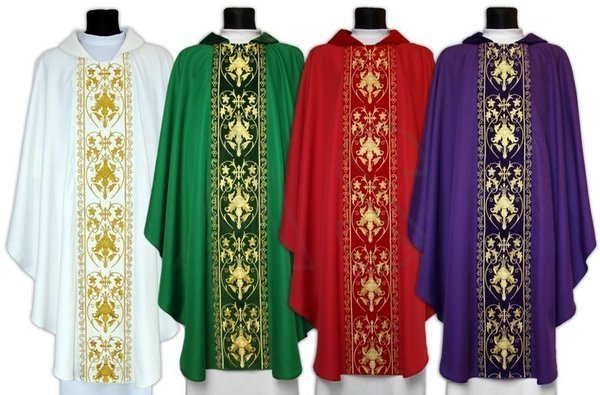 Set of 4 Gothic Chasuble SET-557-A