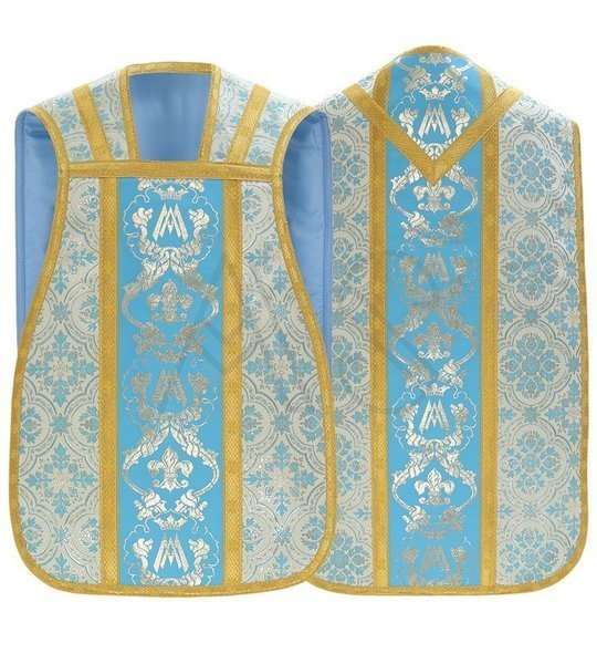 Chasuble romaine mariale R081-N14