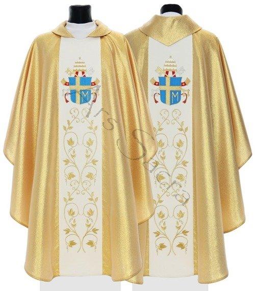 """Casulla gótica """"Escudo de armas de Juan Pablo II"""" 569-G"""