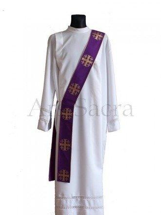 """Estola para diácono """"Cruces de Jerusalén"""" SD103-K"""